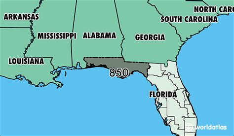 us area code 235 tallahassee fl central or eastern time zone
