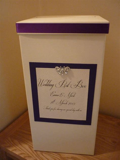 Ivory Personalised and Decorated Wedding Card Post by