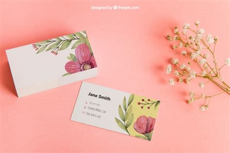 free psychology business cards templates floral business card mockup psd file free