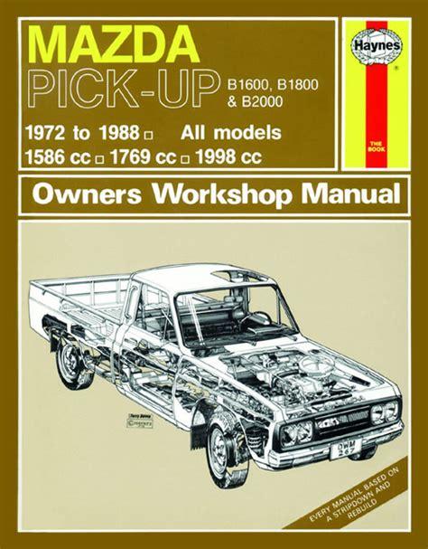 service manual hayes car manuals 1998 mazda b series windshield wipe control hayes auto haynes mazda b1600 b1800 b2000 pick up petrol 72 88