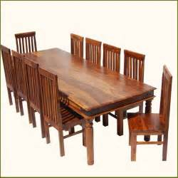 rustic large dining room table chair set for 10