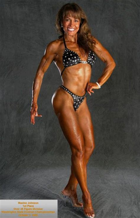 50 year old fitness model maxine johnson is 55 years young weight training for