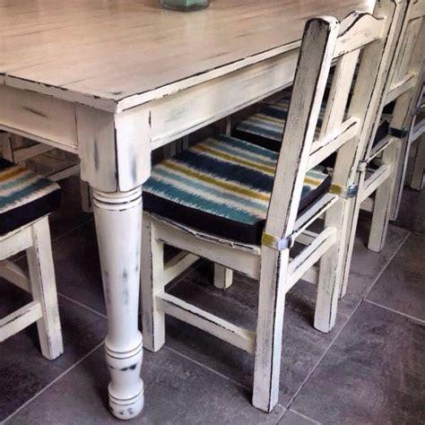 muebles cocina plona mesa comedor sillas patinadas en blanco www decoalcubo