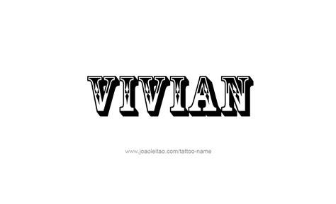 tattoo name vivian vivian name tattoo designs