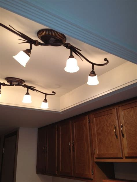 ceiling light fixtures kitchen best 25 fluorescent kitchen lights ideas on