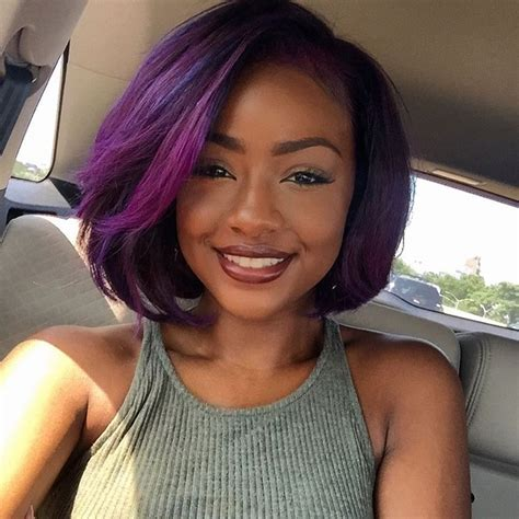 black women hairstyles sewing color purple 23 dreamy purple hairstyles to drool over hairstyle guru