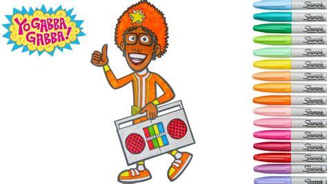 dj lance yo gabba gabba yo gabba gabba coloring book dj lance rock colouring pages