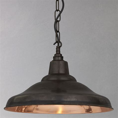 Davey School Ceiling Light, Copper   Industrial   Pendant
