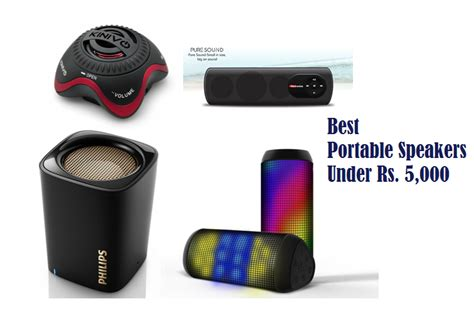 best portable speaker 6 best portable speakers under rs 5000 available in india
