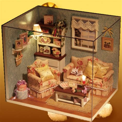 Diy Do It Yourself Miniature House Baby Room diy handmake wooden dollhouse miniature kit happy living room with cover furniture bedroom