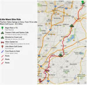 Little Miami River Map by Enjoy The Journey A Great Ride Along The Little Miami