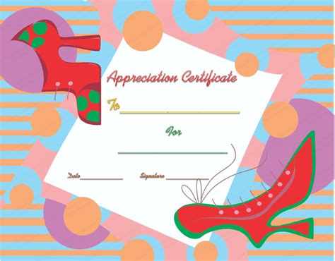 walking certificate templates walking certificate of appreciation template