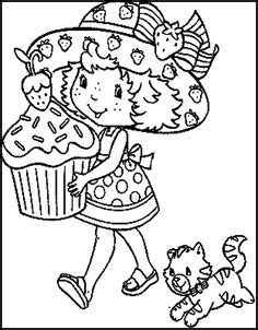 big cupcake coloring page strawberry shortcake dance exercise coloring picture for