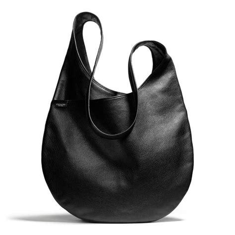 Coach Messenger Sling Bag Pvc Black Bag Leather Tote Tas Pria 1 lyst coach bleecker sling bag in leather in black