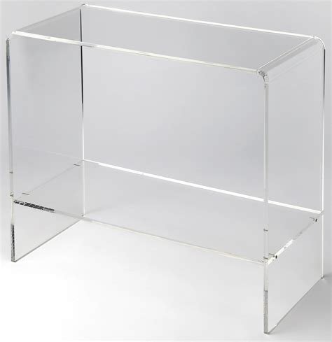 clear acrylic sofa table crystal clear acrylic console table 3610335 butler