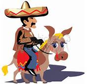 Royalty Free Mexican Cowboy Riding A Donkey 369860 Vector