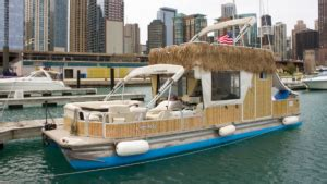pontoon boat rental chicago chicago tikiboat party boat rental