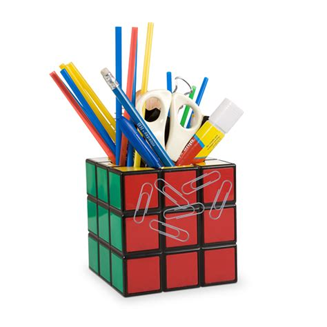 Stationery Desk Tidy by Rubiks Cube Magnetic Desktop Tidy Stationery Pens Storage