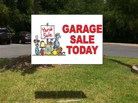 Garage Sale Today by Garage Sale Today Corrugated Plastic Yard Sign Free