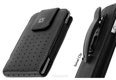 leather case  apple iphone       pouch holster belt clip ebay