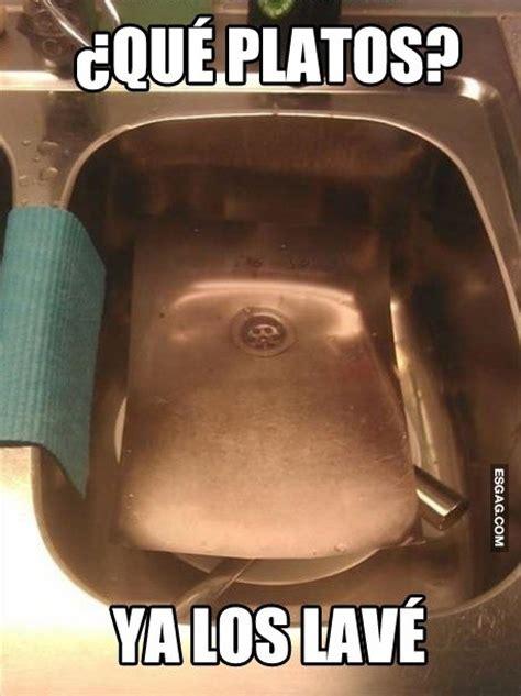 imagenes chistosas lavando trastes invento para salvarte de lavar los platos esgag chistes