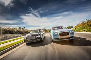 Bentley Or Rolls Royce Which Is Better 2014 Rolls Royce Ghost 2014 Bentley Flying Spur Front End