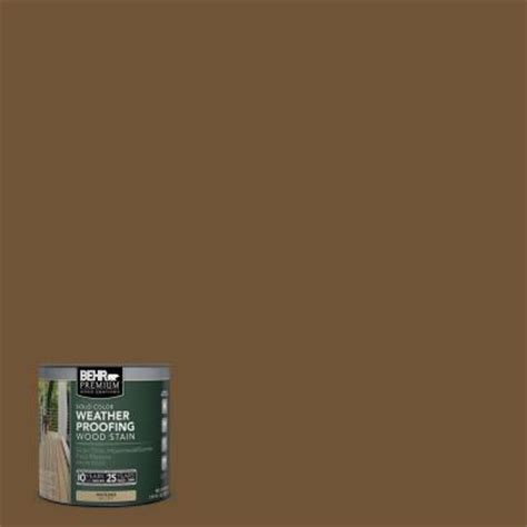 behr premium 8 oz sc109 wrangler brown solid color weatherproofing all in one wood stain and