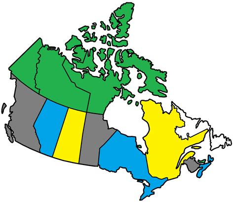canadian map without labels blank simple map of canada volvoab