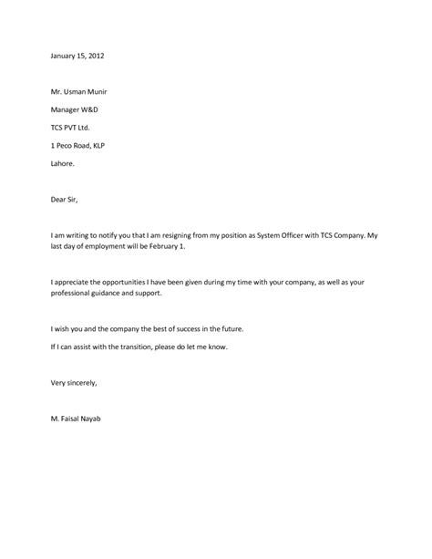 Resignation Letter Transition by Resignation Letter Assist With Transition Docoments Ojazlink