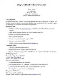 resume sles for entry level resume world inc