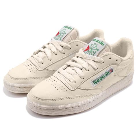 reebok club c 85 vintage leather chalk green classic shoes sneakers bs8242 ebay