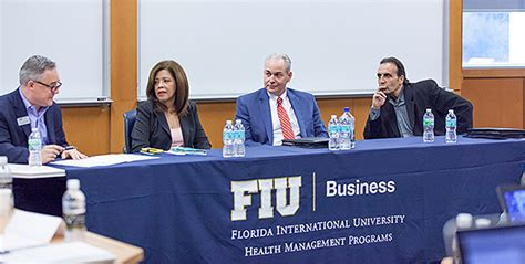 Fiu Healthcare Administration Mba by Healthcare Executives Offer Fiu Students Insights Into A