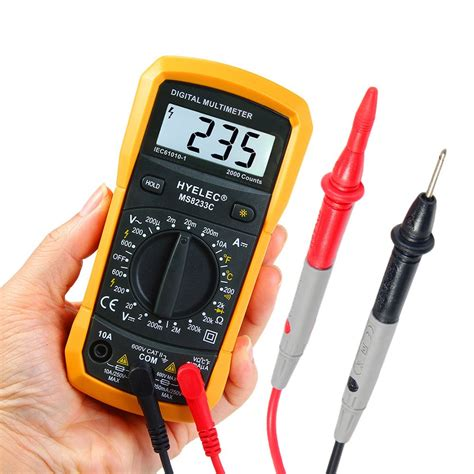 Multimeter Mini hyelec peakmeter ms8233c multifunction mini digital