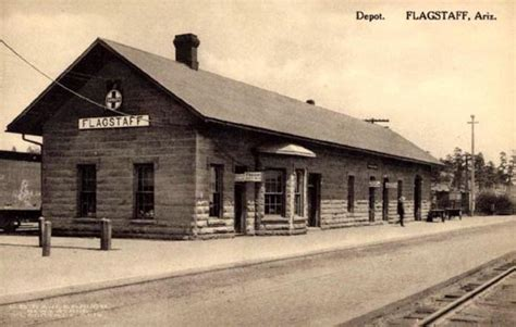 flagstaff arizona depot early 1900s photo