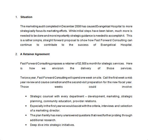 consulting retainer agreement templates 16 consulting templates doc pdf excel free