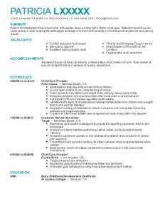 early childhood development resume exles childcare resumes livecareer 1 early childhood director resume 2014