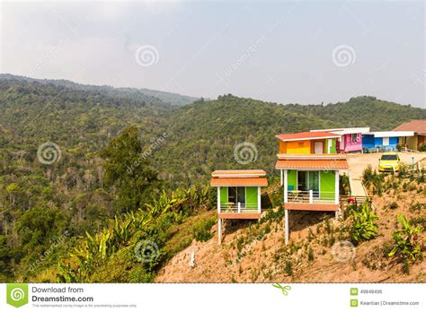colorful hill resort colorful hill stock photo image 49848496