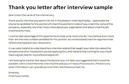 thank you letter after phone interview 4 free word excel pdf