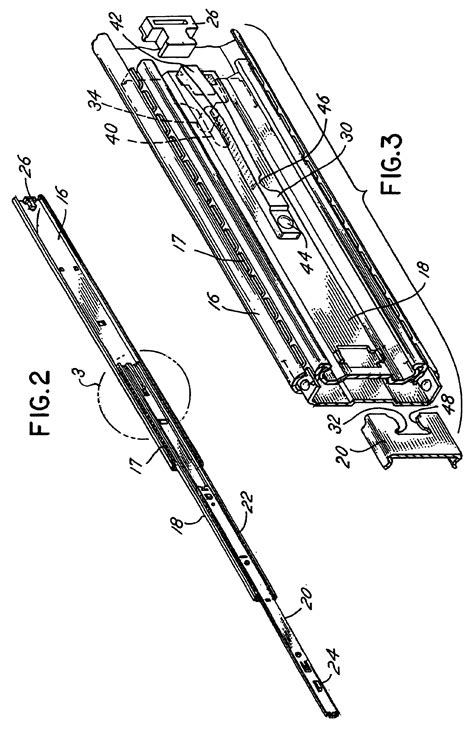 patent us6685288 drawer slide with sequence