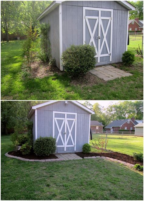 ideas  shed landscaping  pinterest