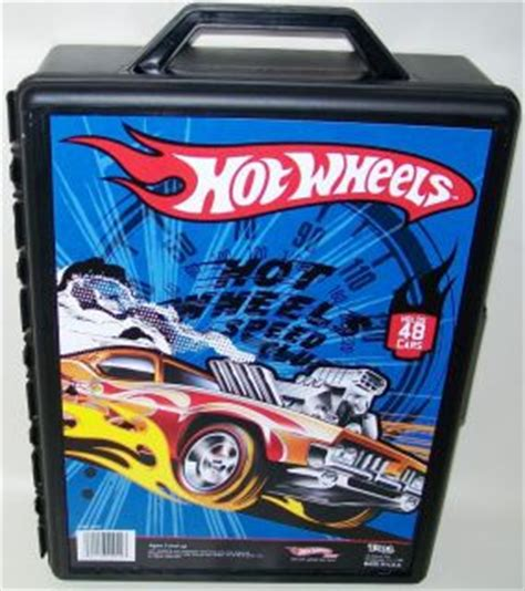 Hot Wheels Hotwheels Car Carry Case Tin Store 40 Cars Grey