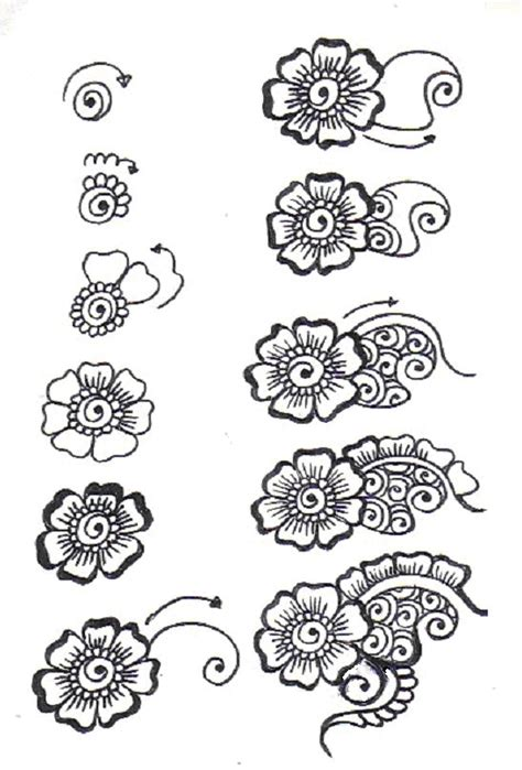flower pattern doodle gallery for gt zentangle flower patterns step by step