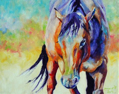 colorful horses colorful paintings