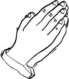 Children praying hands colouring pages