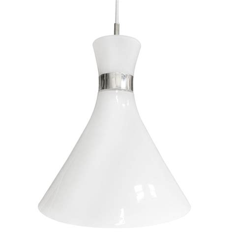 White Glass Pendant Ceiling Light by Nordlux Trumpet Ceiling Pendant Light White Glass