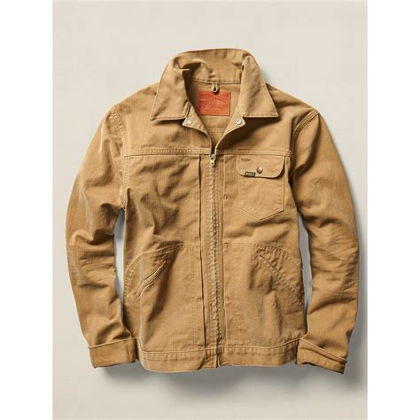 Jaket Parka Cotton Twill lyst rrl cotton twill jacket in brown for