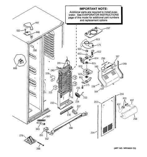 attractive ge side by side refrigerator wiring diagram