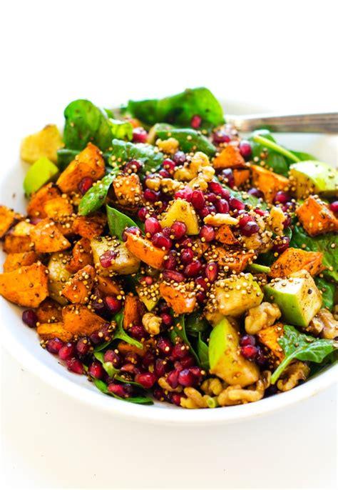 Crispy Salad Potato sweet potato pomegranate crispy quinoa salad