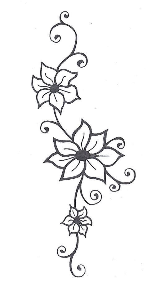 drawing vines pattern photos simple flower and vine sketch drawing art gallery
