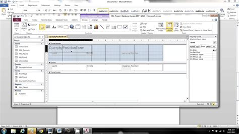 access form design query ms access query by form youtube